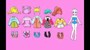 Búp bê giấy - Thiết kế quần áo 17 - Năng động / Active - Paper doll - 종이 인형  / 紙人形 / 纸娃 - YouTube