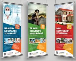 Custom Roll Up Banner Print Your Company Banner Ad Design Print