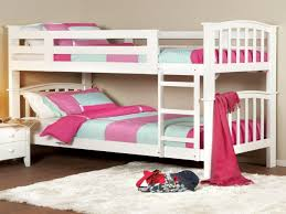 Bedroom:Excellent Bedroom Design With Stripped Bed Sheet And White Space  Saving Bunk Bed Decor