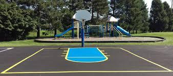 hillside basketball court new paint