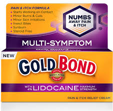 Pain and Itch Relief Cream with Lidocaine – Gold Bond Medicated