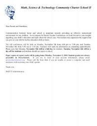 parent teacher conference letters parent teacher conference letter mast ii website