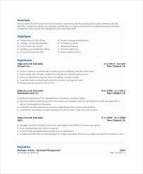 sales account executive resume resume templates for executives