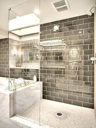 brown subway tile grey bathroom contemporary with glass gray marble mosaic shower light glass tile 1 x 2 brick subway mosaic brown