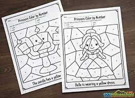 The purpose of this worksheet is to test a young student on which numbers he or she can recognize on a page. Free Beauty And The Beast Color By Number Worksheets