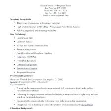 Covering Letter For Receptionist Simple Resume Format