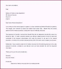 Appeal Letter Template for Medical Necessity Word Format