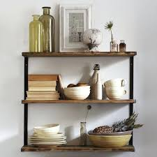 metal wall shelves for kitchen wall unusual design ideas wood and metal wall shelves l beam