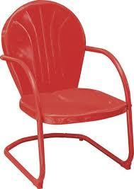backyard creations woodstock red bistro patio chair