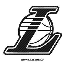 Sticker Karbon Los Angeles Lakers Logo 3