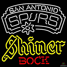 Shiner Neon Light Shiner Bock San Antonio Spurs Neon Sign Nba Teams Neon Light