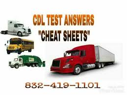 cdl answer sheet