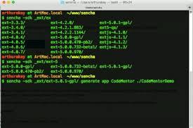 let s open up a terminal to create an app through the sencha cmd