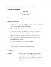 Cover Letter Resume For Waitress Position Resume Cover Letter For