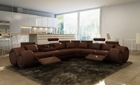 lovely modern recliner sofa sectional dark brown bonded leather caprional sofa tions literarywondrous