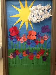 door decoration for spring | Spring door decoration | School Doors