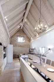 lighting for cathedral ceilings. Pale Exposed Brick \u0026 Cream Timber Cathedral Ceiling Over Kitchen Dining Space Sims Hilditch Design Studio At The White Hart Lighting For Ceilings D