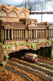 replica of the original penn station at the holiday train show