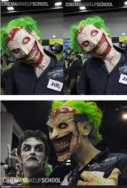 joker interpretation at the ic con by the cinema makeup special effects cinema makeup joker cosplay