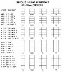 Standard Single Hung Window Size Chart Aluminum Window Standard Aluminum Window Sizes