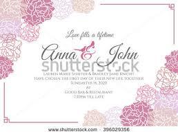 wedding card pink rose floral frame stock vector 396029356 Wedding Card Frame Vector wedding card pink rose floral frame vector template design wedding card border vector