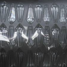 35pcs 76mm transpa multi cuts crystal u drop prism crystal pendants for chandeliers fashion diy pengdant lamp
