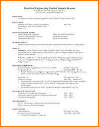 6 Electrical Engineering Student Resume Gcsemaths Revision