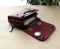 small leather wallet purple product images of