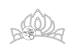 Small Picture Little tiara coloring page for girls printable free coloing