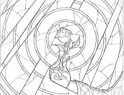 Stained Glass Rose Coloring Page By Richard67915 On Deviantart At