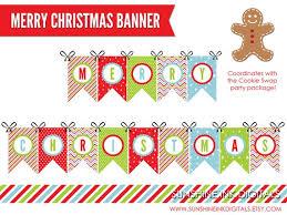 Merry Christmas Banner Print Merry Christmas Printables Under Fontanacountryinn Com