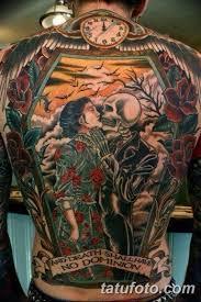фото тату на спине скелет 25032019 024 Back Tattoo Skeleton