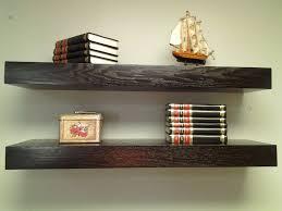″ floating shelves oak wood espresso color free shipping set of