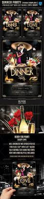 dinner party flyer template fonts flyer template and r tic dinner party flyer template