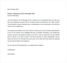 Termination Of Employment Letter Template Sample Termination Letter For Accounting Services Employment Letters