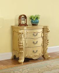 Meridian Bedroom Furniture Bedroom In Gold Tone W Silver Accent By Meridian W Options