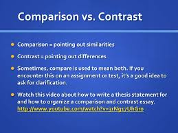 week comparison contrast essay  comparison and contrast essay <br > 6