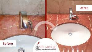 learn how a stone sealing service in chicago red the elegant beauty of this red marble countertop