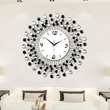 modern wall clocks modern classic living room diamond decorative wall clock