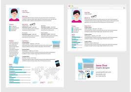 Vector Curriculum Vitae Graphic Designer Download Free Vector Art
