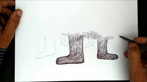 How to Draw creative tree Art# Step By Step