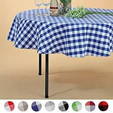dii 70 round cotton tablecloth red white check red and white vinyl