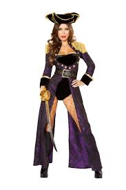 y black purple gold 4 pc pirate queen costume