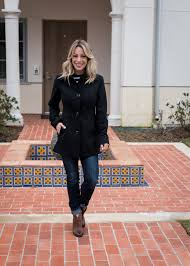 cute winter outfit with peacoat