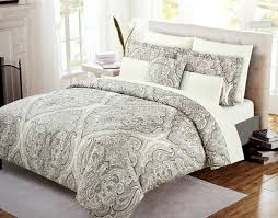 cynthia rowley boho chic bedding taupe grey bohemian paisley salma duvet cover set 3pc large moroccan