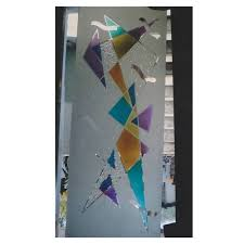 colour etching glass work