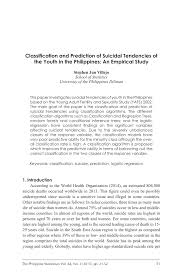 Position paper example topic in philippines : Pdf Classification And Prediction Of Suicidal Tendencies Of The Youth In The Philippines An Empirical Study