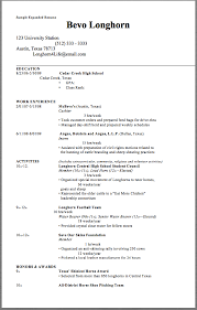 Extended Resume Template Sample Expanded Resume Sample Expanded Resume Bevo Longhorn