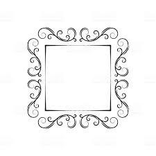 holiday page border vector ornamental filigree frame vintage decorative design elemet swirls scroll curls page