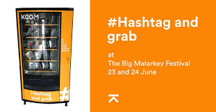 Twitter Powered Vending Machine Mesmerizing KCOM On Twitter Heading To The Big Malarkey Festival For Some